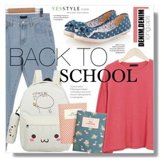 """""""YesStyle Polyvore Group """" Show us your YesStyle """""""" by sans-moderation ❤ liked on Polyvore featuring Pangmama, BackToSchool, outfit and yesstyle"""