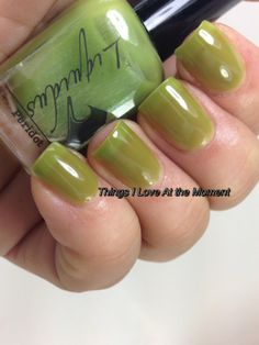 PERIDOT - Liquidus Nail Gloss - From the Spring 2014 Collection - True green jelly, shinny & very sheer. (3 coats)