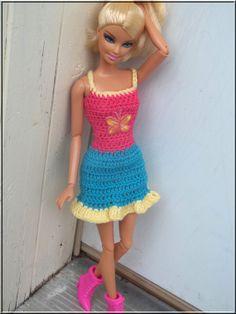 Barbie Crochet Clothes Spaghetti Strap by BarbieBoutiqueBasics, $8.50