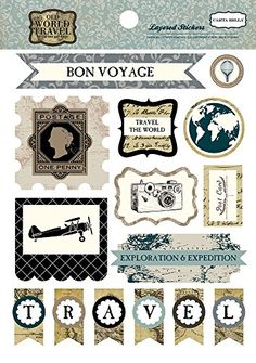 Carta Bella Paper Company CBOWT53025 Old World Travel Layered Stickers ** To view further for this item, visit the image link.Note:It is affiliate link to Amazon.