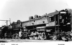 A early 4-8-8-2 Southern Pacific AC 1 Cab Forward locomotive, number 4014, at Oakridge, Oregon