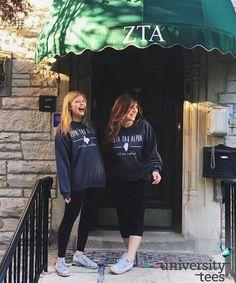 different states, same sorority, best sisters  | Zeta Tau Alpha | Made by University Tees | universitytees.com