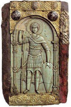 Bassorilievo raffigurante San Giorgio Monastero di Vatopedi - Grecia - Tardo XI secolo