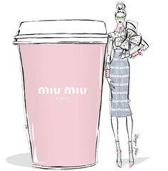 Hoje nosso café será adoçado com toda a elegância de #miumiu ☕️ #bomdia #segunda