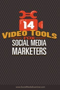 Do you want to add video to your social media marketing? Today's tools make it easy to record and edit videos for social media marketing and ad campaigns. In this article I'll share 14 tools marketers can use to create screencasts, montages and slideshows. Via @smexaminer