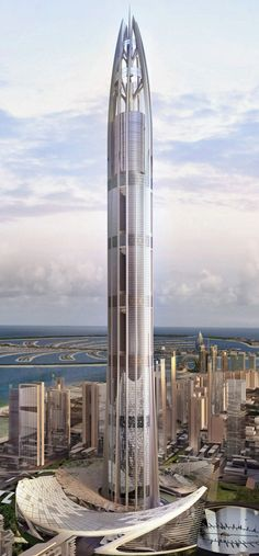 Nakheel Tower, Dubai, UAE designed by Woods Bagot Architects :: 200 floors, height 1000m #modern ☮k☮ #architecture