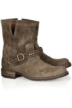 Fiorentini & Baker Elis Eternity studded suede boots and other apparel, accessories and trends. Browse and shop related looks. Suede Shoes, Shoe Boots, Shoe Bag, Studded Boots, Biker Boots, Fall Shoes, Brown Suede, Fashion Boots, Footwear