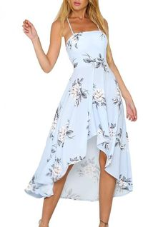 Cheap boho beach dress, Buy Quality beach dress directly from China women dress Suppliers: Lily Rosie Girl Halter Strapless Floral Print Blue Women Dresses 2018 Summer Party Sexy Backless Boho Beach Dress Ladies Vestido Backless Maxi Dresses, Chiffon Dress, Sexy Dresses, Cute Dresses, Casual Dresses, Awesome Dresses, Floral Dresses, Short Beach Dresses, Summer Dresses For Women