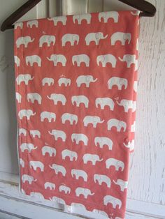 Organic cotton fleece baby blanket CORAL ELLIE by peanuttree, $35.00 my colorrrr!!!