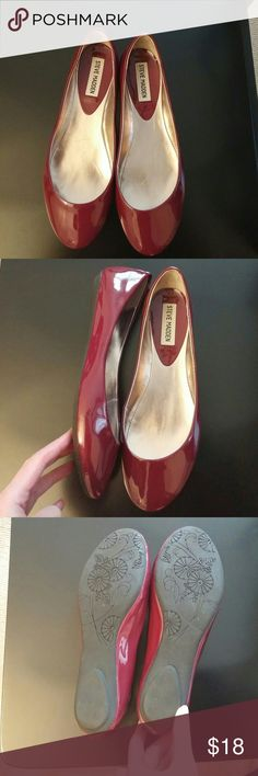 Selling this Steve Madden red wine colored flats on Poshmark! My username is: dcgirl2009. #shopmycloset #poshmark #fashion #shopping #style #forsale #Steve Madden #Shoes
