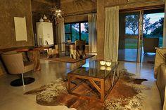 Earth Lodge Standard Suite lounge by Sabi Sabi Private Game Reserve, via Flickr
