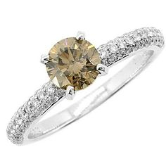 Jewelry Point - 1.47ct VS1 Champagne Diamond Engagement Ring 18k White Gold, $2,580.00 (http://www.jewelrypoint.com/1-47ct-vs1-champagne-diamond-engagement-ring-18k-white-gold/)