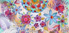 Flower Bomb PRINT by stephaniecorfee on Etsy Flower Bomb, Bible Art, Flower Prints, All Art, Doodles, Vibrant, Tapestry, Floral, Flowers