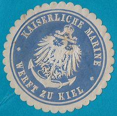 + Imperial Naval Shipyard in Kiel Schleswig-Holstein German States Label Seal