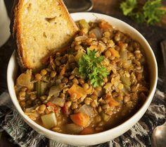 Legume-loving lentil soup