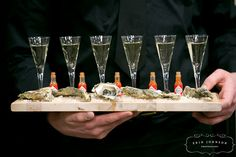 Oysters & Caviar with Mini Flutes of Champagne by D'Amico Catering, via Flickr
