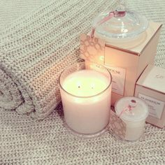 Glasshouse candle Oahu + Tigertree Seychelles throw