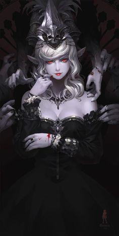 The Black Doll, Yan Gisuka on ArtStation at https://www.artstation.com/artwork/the-black-doll