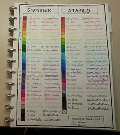 Another Staedtler vs Stabilo Color Chart. | Calvin Was Right
