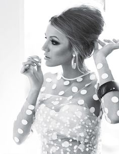 Blake Lively in dotted elegance (Glamour shoot).