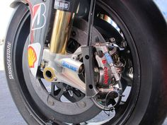 The Ridiculous Motorcycle Racing Tech of MotoGP - Popular Mechanics Motorcycle Posters, Motorcycle Bike, Bicycle Painting, Bicycle Art, Bicycle Design, Caliper Paint, Bike Parts, Vintage Bicycles, Road Racing