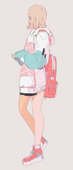 Arte Do Kawaii, Kawaii Art, Cartoon Kunst, Cartoon Art, Cute Girl Drawing, Cute Drawings, Anime Art Girl, Manga Art, Cute Art Styles