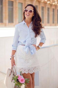 Cómo combinar una camisa con lazo en tu look de verano : MartaBarcelonaStyle's Blog