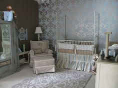 baby blue boy nursery shabby chic