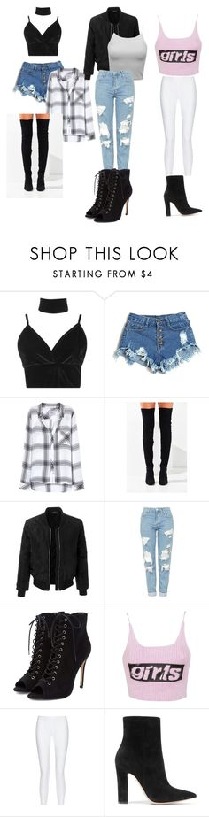 """Ariana grande outfits"" by mcobbina ❤ liked on Polyvore featuring Boohoo, Rails, Jeffrey Campbell, LE3NO, Topshop, Alexander Wang, 10 Crosby Derek Lam and Gianvito Rossi"