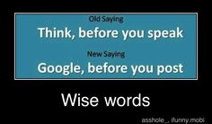Google, before you post