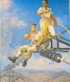 Socialist realism. Albanian or Soviet poster (?). Realizëm socialist. Afishë shqiptare apo sovjetike (?). Réalisme socialiste. Affiche sovié...