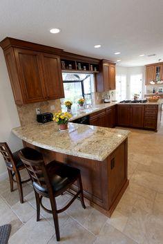 68 – Mission Viejo – Kitchen & Bathroom Remodel – Home Renovation Kitchen Room Design, Kitchen Cabinet Design, Kitchen Redo, Kitchen Layout, Home Decor Kitchen, Interior Design Kitchen, New Kitchen, Home Kitchens, Cherry Kitchen Cabinets