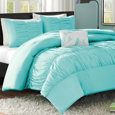 Mizone Mirimar Twin XL Comforter Set Blue for students living in dorm rooms or apartments at college or boarding school, on campus or off.