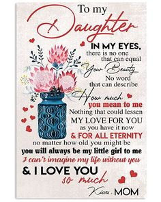Shop for unique Mother apparel and homegoods on CoolFamilyTee. Find the perfect Mother t-shirts, mugs, posters, phone cases, and more. Prayers For My Daughter, Letter To My Daughter, Daughter Poems, Mother Daughter Quotes, I Love My Daughter, Love My Kids, Sayings About Daughters, Quotes For Daughters, Happy Mothers Day Daughter