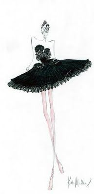 "One of Rodarte's costume sketches for ""Black Swan"""