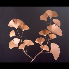 Copper Ginkgo branch wall art.  Add an Asian flair!