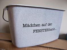 Personalized Bucket (Pic. 1/2) | Designed for aufdeineweise.de by Nadine Golumbek (2011) Lovely Things, Bucket, Scrapbook, Pure Products, Simple, Design, Beautiful Things, Nice Asses