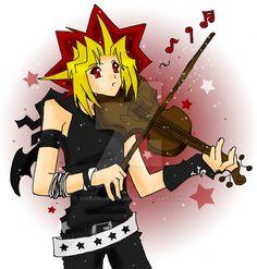 Yami playing violin