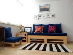 Resultado de imagem para sofa de paletes com rodinhas