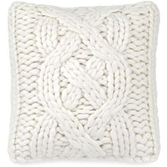 """Ugg Oversized Knit Decorative Pillow, 20"""" x 20"""" ($145) ❤ liked on Polyvore featuring home, home decor, throw pillows, natural, rustic throw pillows, oversized throw pillows, rustic home decor, knit throw pillow and ugg"""