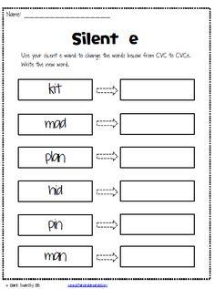 Life in First: Silent E, Magic e, Sneaky e