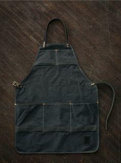 Water Resistant Canvas and Leather Apron  Grey by MercyLeatherWork, $165.00
