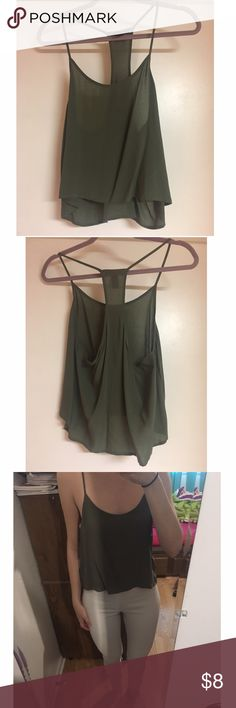 ‼️5 for $20‼️ Forever 21 crop top Forever 21 olive green crop top. BRAND NEW, in excellent condition! Size M Forever 21 Tops Crop Tops