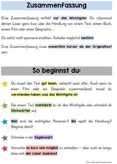 Satzbau | Deutsch | Pinterest | Satzbau, Deutsch und Bildung