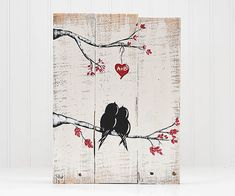 Valentines Gift Wood Signs You and Me Reclaimed Wood Art Love Bird Rustic Wedding Gift for Couple 5th Anniversary Gift Wood Wall Art Love