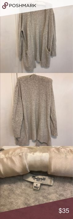 Grey cardigan. Size small. Madewell. Hardly worn! Super soft and slouchy. Great for spring and fall Madewell Sweaters Cardigans