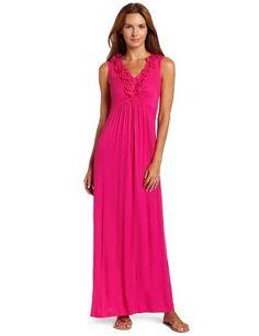 c7d7e5b0d4 Tiana B Women s Ruffle Front Maxi Dress