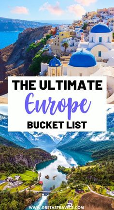 The Ultimate Europe Bucket List. Planning a big Europe trip? Discover the 50+ best things to do, places to see and experiences to have in Europe with this ultimate Europe bucket list! #europe #europebucketlist #europetraveltips Finland Travel, Denmark Travel, Austria Travel, Norway Travel, Germany Travel, Albania Travel, Slovenia Travel, Croatia Travel, Lithuania Travel
