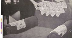 doilies on the furniture to protect it from oily hair and cigarette ash