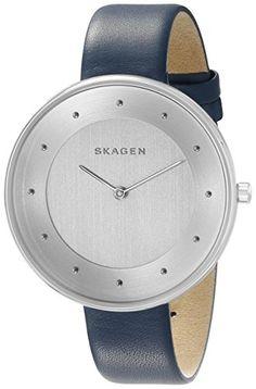 84b2331874d08 Skagen Women's Gitte SKW2315 Silver Leather Quartz Watch Skagen http://www. amazon